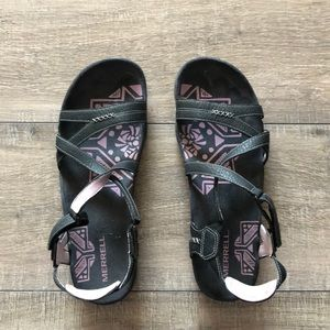 Merrell Sandspur Sandals in Lilac Keepsake 10